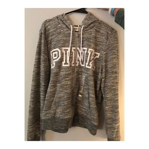 Grey Zip Up Hoodie from PINK